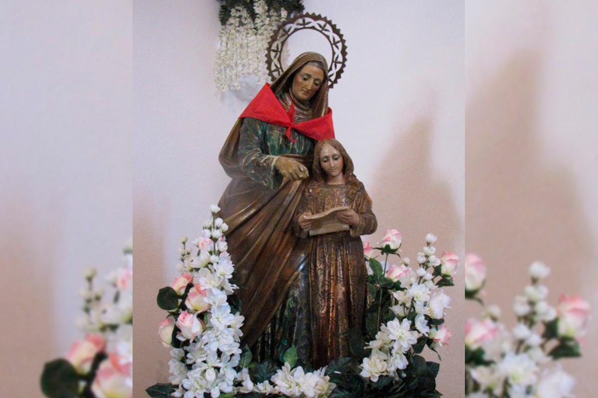Imagen figura la Virgen y Jesús