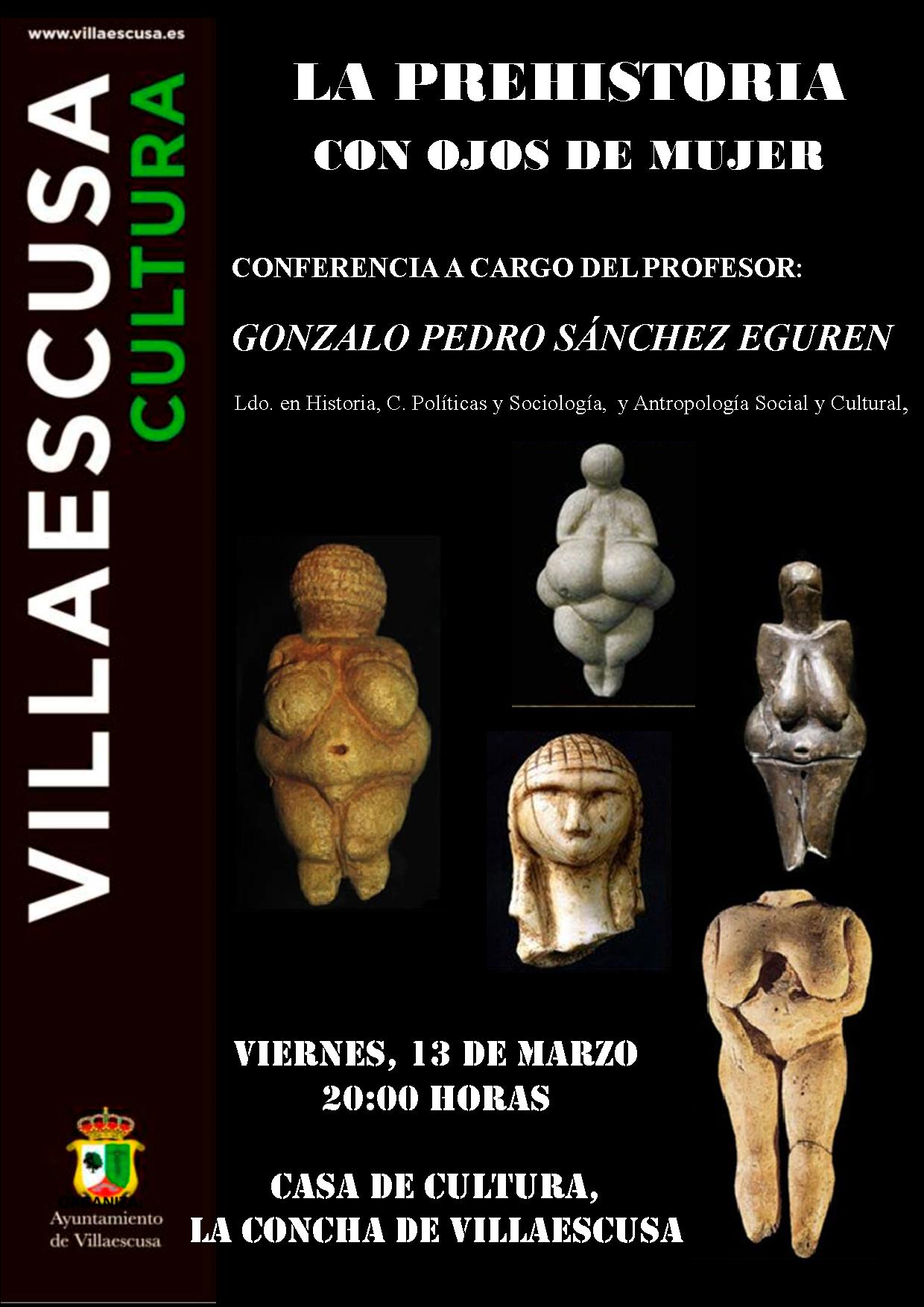 Cartel conferencia prehistoria