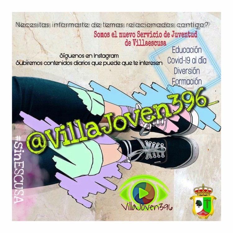 Cartel servicio de juventud Villaescusa
