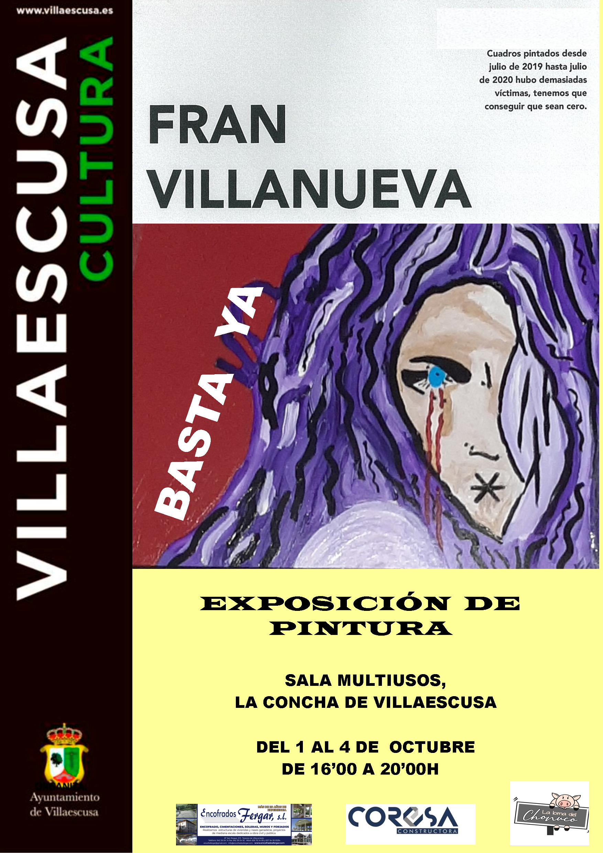 Cartel Exposición Fran Villanueva