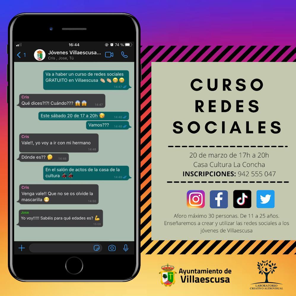 CARTEL CURSO REDES SOCIALES MARZO 2021